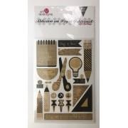 Adesivo artesanal - Study - Art e Montagem (AD173)