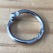 Argola Articulada 20 mm - prata  (Arg01)