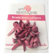 Brads (bailarinas) 8 mm - Pink - Art e Montagem (BD22-6)