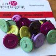 Brads (Bailarinas) Coloridas 12 mm - Art e Montagem (BD54-2)