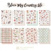 Bloco A5 Coleção My Country Life - My Memories Crafts (MMCMCL-07)