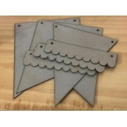 Kit Bandeirinhas em chipboard - Juju Scrapbook (BND01)