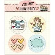 Bottons Coleção Amor Basta - Goodies (PP90004)