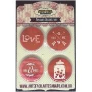 Bottons sem alfinete - Love - Arte Fácil (BT-004)