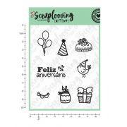 Carimbo Cartela Feliz Aniversário - Scraplooving (C110)
