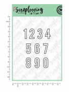"C177 - Cartela ""Números Contorno 2 cm"" - Scraplooving"