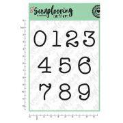 Carimbo Cartela Números Grandes Máquina de Escrever - Scraplooving (C239)