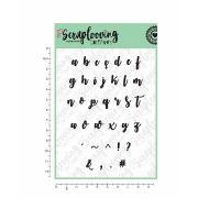 Carimbo Alfabeto Brush Lettering - Scraplooving (C66)