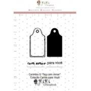 Carimbo G Tag com Amor - Coleção Cartas para Você - JuJu Scrapbook (11685)