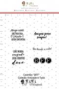 Carimbo M BFF - Coleção Amizade é tudo - Juju Scrapbook (10001)