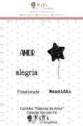 Carimbo M Palavras de amor - Coleção Vai com fé - Juju Scrapbook (10113)