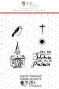Carimbo M Sabedoria - Coleção Vai com fé - Juju Scrapbook (10115)