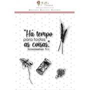 Carimbo M Tempo - Coleção Vai com fé - Juju Scrapbook (10119)