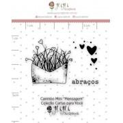 Carimbo Mini Mensagem - Coleção Cartas para Você - JuJu Scrapbook (11661)
