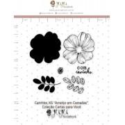 Carimbo XG Arranjo em Camadas - Coleção Cartas para Você - Juju Scrapbook (11683)