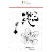 Carimbo XG Flor em Camadas - Coleção Paraíso Tropical - JuJu Scrapbook (9615)