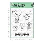 Cartela Cute Hearts (cute) - Scraplooving