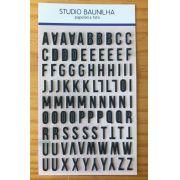 Cartela de Alfabeto Puffy - Preto - Studio Baunilha (SBA001)