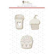 Cartela de Enfeites - Docinhos - Coleção Amizade é Tudo - Juju Scrapbook (10037)