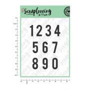 Cartela Numeros 2 cm (NUMEROS) - Scraplooving