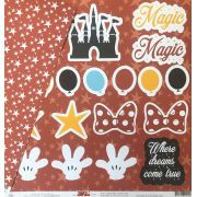 Kit Papéis Coleção Disney - Ok Scrapbook