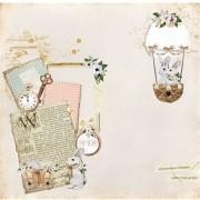 Papel Scrap - Pra Falar de Amor - Coleção Fábula - Dany Peres (DP-FB-06)