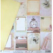 Papel Scrap - Páginas de Livro - Coleção Poesia - Dany Peres (DP-PO-04)