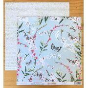 Papel Scrap - Floratta - Coleção Yes I Do - Dany Peres (DP-YID-03)