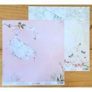 DP-YID-04 - Papel Scrap - Vestido de Noiva - Coleção Yes I Do - Dany Peres