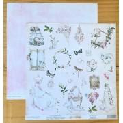 Papel Scrap - Detalhes - Coleção Yes I Do - Dany Peres (DP-YID-06)