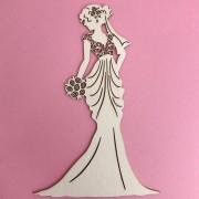 Enfeite Princess Bride Bege - BG Crafts (BG03)