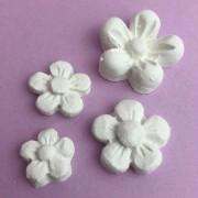 Enfeite resina kit flores (R113)