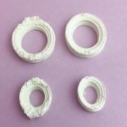 Enfeite resina - Moldurinhas Oval (R371)