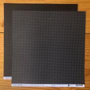 Papel Scrap - Bolinhas P&B - Coleção Dots P&B - Papelero (FB1001)