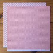 Papel Scrap - Escamas Chiclete - Coleção Pattern - Papelero (FB1078)