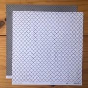 Papel Scrap - India Chumbo - Coleção Pattern - Papelero (FB1089)