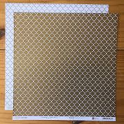 Papel Scrap - India Gold - Coleção Pattern - Papelero (FB1090)