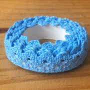 Fita Adesiva Decorativa Rendada - Azul - Art e Montagem (FA05-6)