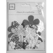 Flores Para Scrapbooking - Ok Scrapbook