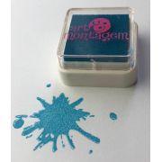 Carimbeira azul turquesa - Art e montagem (INK002-13)