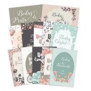 Kit Cards Bodas de Amor G - Coleção Felizes para Sempre - Juju Scrapbook
