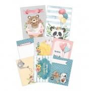 Kit Cards Nunca Pare de Amar - Coleção Abraço de Urso - Juju Scrapbook (8597)