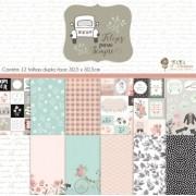 Kit Coordenado - Coleção Felizes Para Sempre - JuJu Scrapbook (6490)