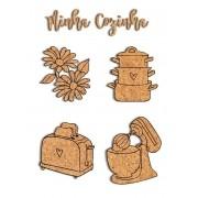 Kit de Cortiças Adesivadas - Minha Cozinha - Coleção My Kitchen - My Memories Crafts (MMCMK-08)