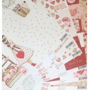 Kit de Papéis Coleção Sweet Love (6 papéis) - Dany Peres