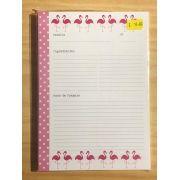 Miolo Caderno de Receitas Flamingos