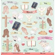 Papel Scrap - My God - Coleção My Blessing - My Memories Crafts (MMCMBL-01)