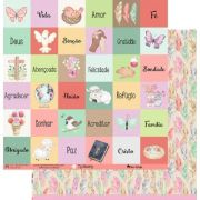 Papel Scrap - My Life - Coleção My Blessing - My Memories Crafts (MMCMBL-05)