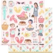 Papel Scrap - My Mom - Coleção My Family - My Memories Crafts (MMCMF-01)
