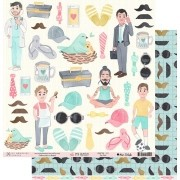 Papel Scrap - My Dad - Coleção My Family - My Memories Crafts (MMCMF-02)